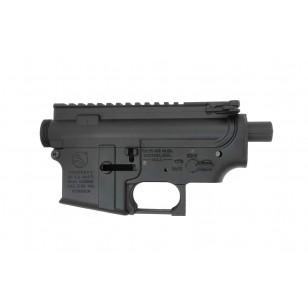 E&C M4 Receiver Set Colt Style Engraved (BK)