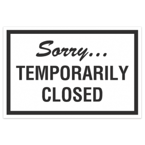 Sorry, we're temporarily closed, back on 17th June
